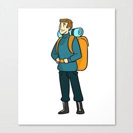 Backpacker Guy Canvas Print
