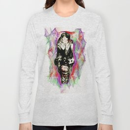 Digital Skull Graphic Design Long Sleeve T-shirt
