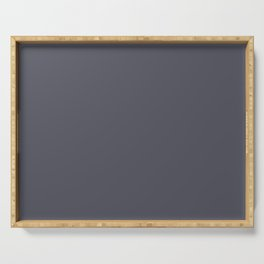 Basic Charcoal Gray Serving Tray