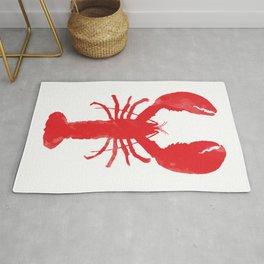 Watercolor Lobster Rug