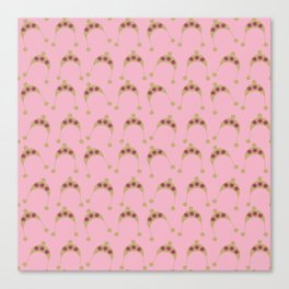 pink beige hats Canvas Print