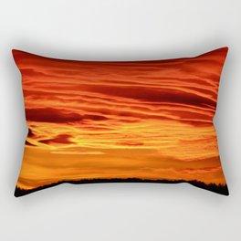 Flame Coloured Sunset Sky Rectangular Pillow