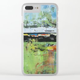 Salvation Green Abstract Contemporary Artwork Painting Clear iPhone Case