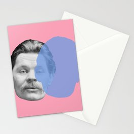 Maxim Gorky - pink blue portrait Stationery Cards