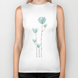 indoor palm tree watercolor Biker Tank