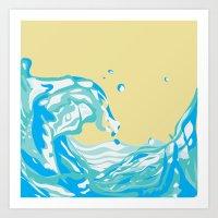 water pour Art Print