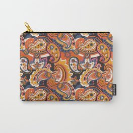 Bohemian Paisley Pattern, 60s 70s Retro Carry-All Pouch