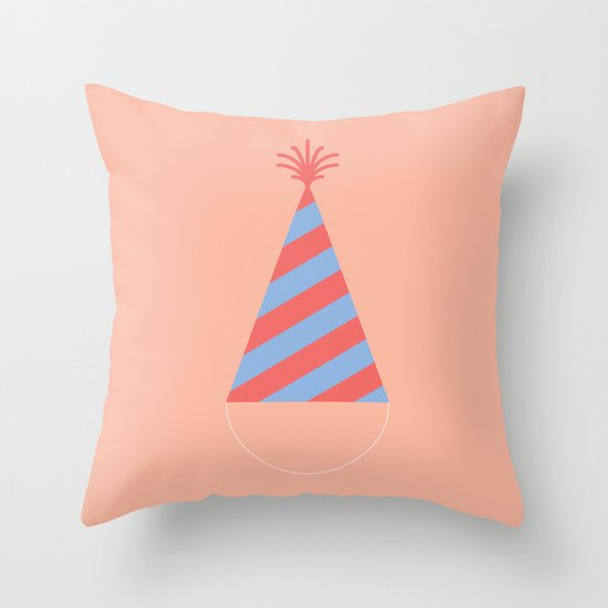 #43 Party Hat Throw Pillow