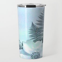 baby blue floral pattern Travel Mug
