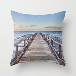 To The Beach... Canary Islands Throw Pillow