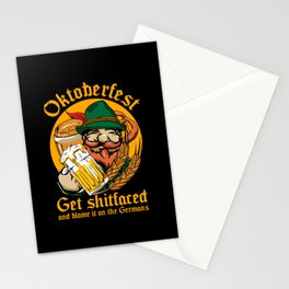 Oktoberfest Get Fucked Up Stationery Cards