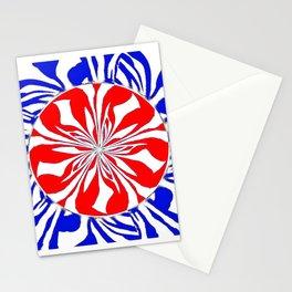Zebra Kaleidoscope Red White and Blue Stationery Cards