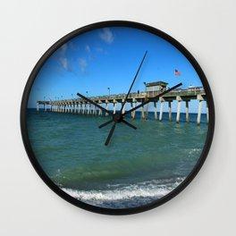 Winter In Florida Wall Clock