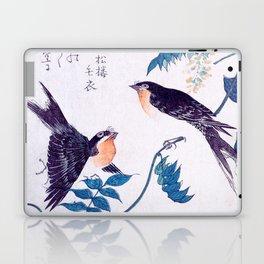 Swallows and Wisteria B Laptop & iPad Skin