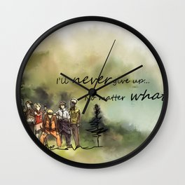 Team 7 Never Give Up Wall Clock