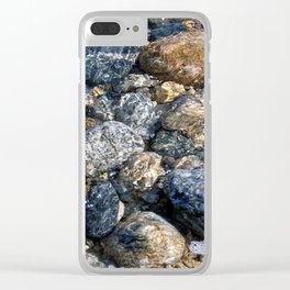 Sea of Pebbles Clear iPhone Case