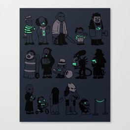 The Horrors of Queuing Canvas Print