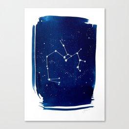 Saggitarius Zodiac Print Canvas Print