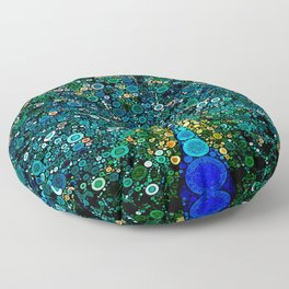 :: Peacock Caper :: Floor Pillow