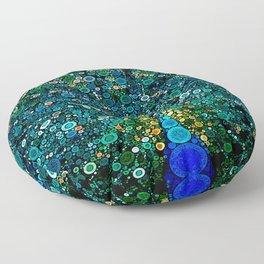 :: Peacock Caper :: Floor Pillow