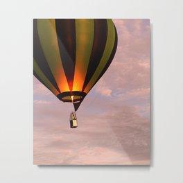 Hot air balloon rising Metal Print