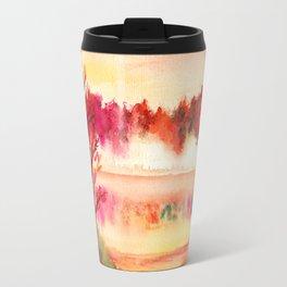 Autumn Landscape Watercolor Travel Mug