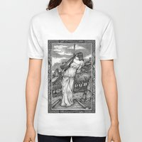 witch V-neck T-shirts featuring Witch by Laura-A