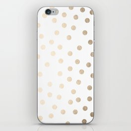 Simply Dots in White Gold Sands iPhone Skin