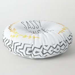 Sassy Since Birth Quote Floor Pillow