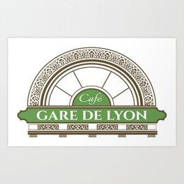 Café gare de Lion Art Print