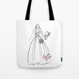 Blonde Bride in Ball Gown Tote Bag