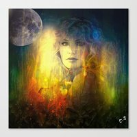 "sandra dieckmann Canvas Prints featuring "" Sandra ""  by shiva camille"