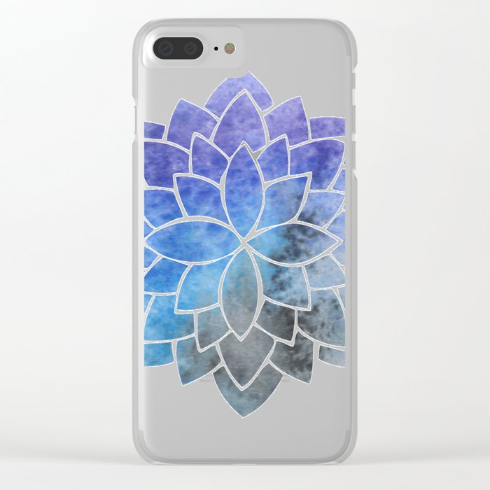 Glaucous Mandala Clear iPhone Case