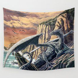 The Leggend of the Silver Dragon Wall Tapestry