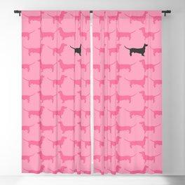 Pink Dachshunds Pattern Blackout Curtain