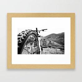 Two Wheel Hike Framed Art Print