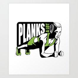 Planks strength training award Art Print