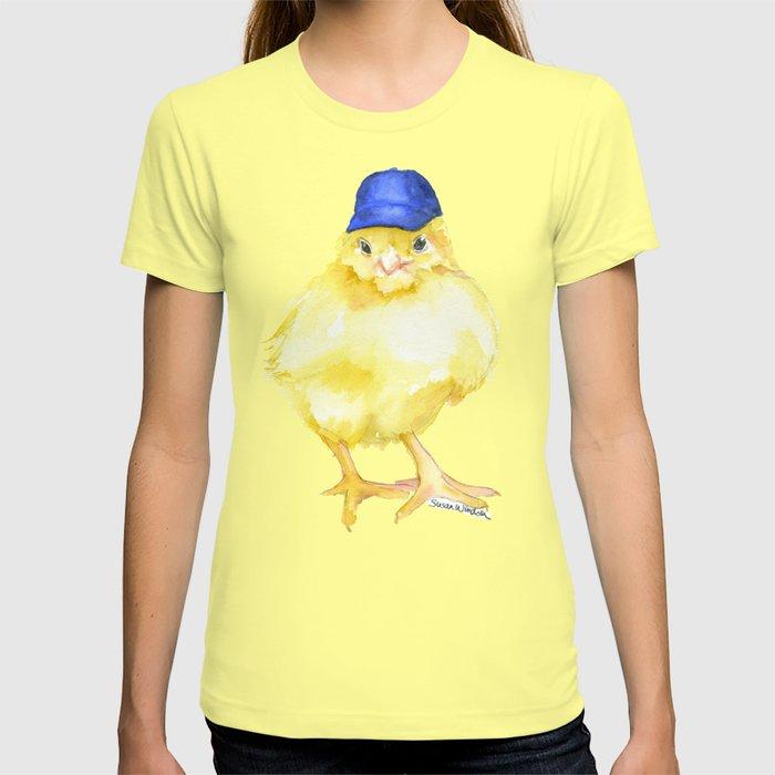 Baseball Chick Watercolor T-shirt