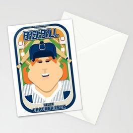Baseball Blue Pinstripes - Deuce Crackerjack - Jacqui version Stationery Cards