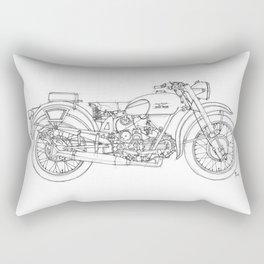 MOTO GUZZI AIRONE 250 1939 Original handmade drawing, gift for bikers Rectangular Pillow