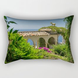 The Golden Goat of Eze Village Rectangular Pillow