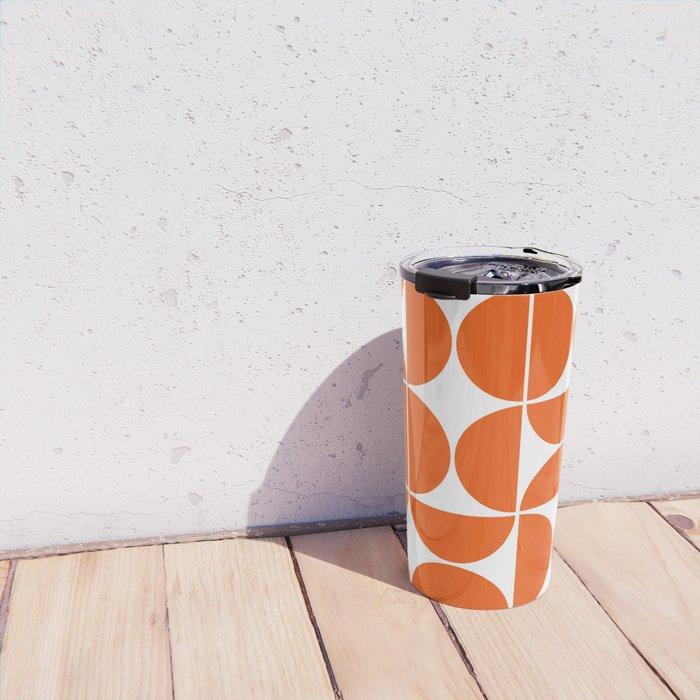 Mid Century Modern Geometric 04 Orange Travel Mug