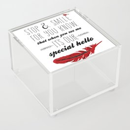 Cardinal Bird - Lost Loved One Visiting - Special Message - Angels visiting Acrylic Box