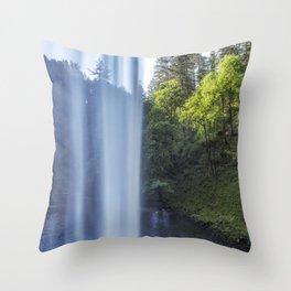 Behind South Falls Throw Pillow