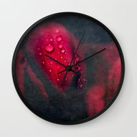 moulin rouge Wall Clocks featuring Rouge by Anne Seltmann