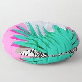 Dag - throwback memphis 1980s neon art pink pastel pattern black and white minimal art design urban Floor Pillow