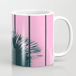 Yucca Plant in Front of Striped Pink Wall Coffee Mug