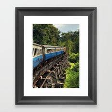 Train - Ayutthaya - Thailand Framed Art Print