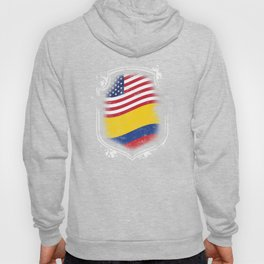 Colombian American Flag Hoody