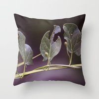 eat Throw Pillows featuring Eat by CrookedHeart